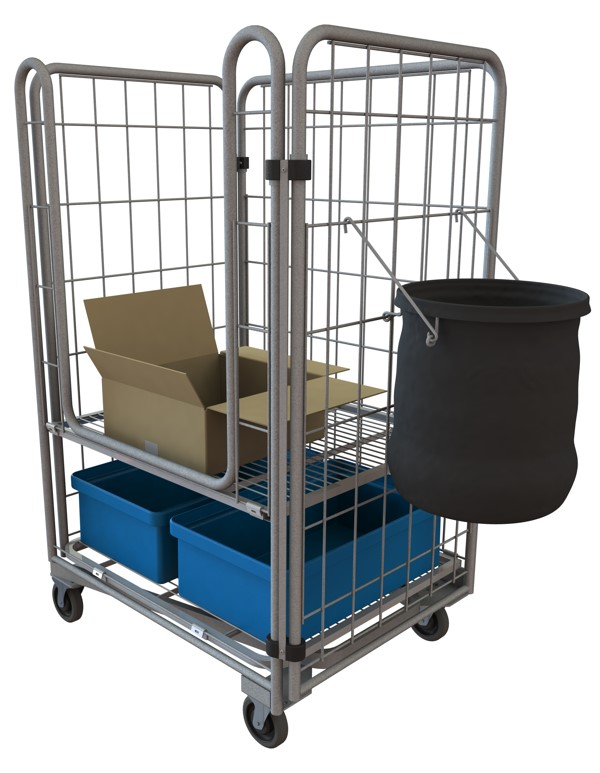Cardboard Collection Cart