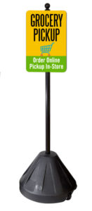 Portable Pole for Grocery Pickup
