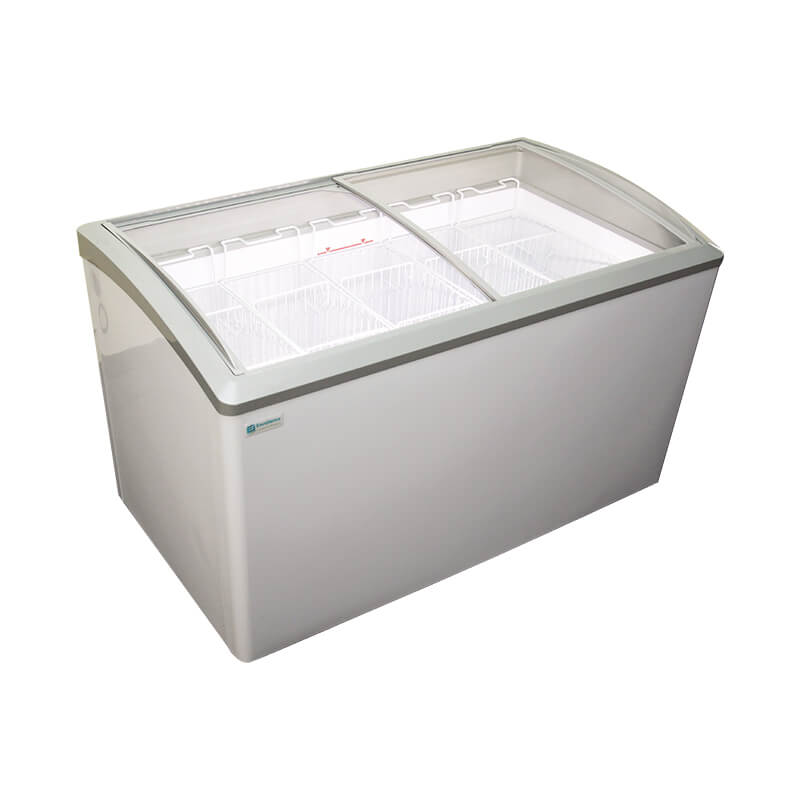Curved Lid Display Freezer case