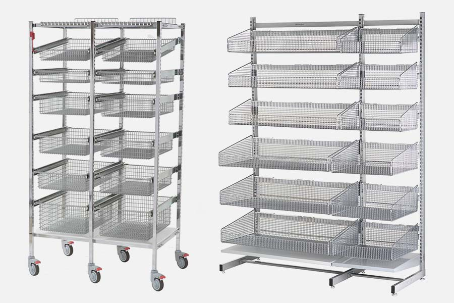 Wire racks and shelving